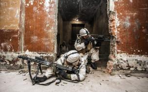 оружие, армия, спецназ, здание, стены, солдаты