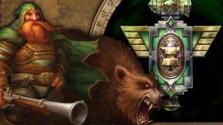 гном, оружие, знак, медведь