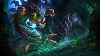 монстр, слизь, вода, чудовище
