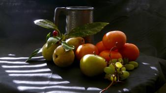груши, виноград, цитрусы