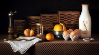 яйца, молоко, мандарин