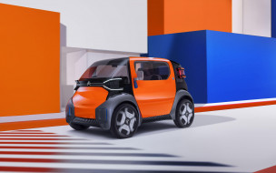французские автомобили, citroen ami one, электромобили, автомобили 2019 года, компактные автомобили