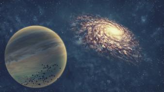 вселенная, галактика, звезды, планета