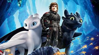 мультфильм, постер, как приручить дракона, 2019, персонажи