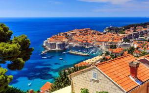 города, дубровник , хорватия, панорама