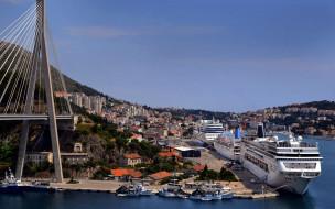 города, дубровник , хорватия, пристань
