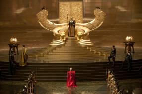 зал, люди, трон, Один