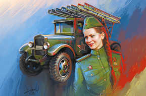девушка, катюша, форма, победа, советская армия