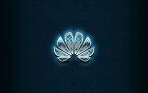 huawei, креатив, логотип, бренды, произведения искусства, синий фон, стекло