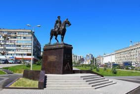 Россия, Волгоград, памятник, Рокоссовский, город