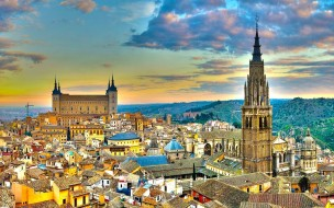 города, толедо , испания, панорама