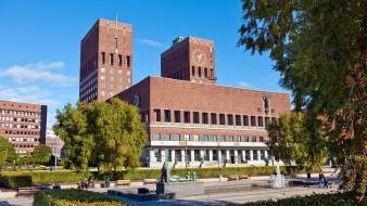 city hall, города, осло , норвегия, city, hall