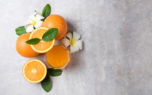 апельсины, сок, плюмерия