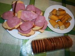 бананы, печенье, сыр, еда, бутерброды, колбаса, хлеб