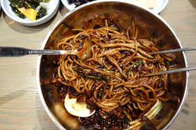 корейская, кухня, лапша