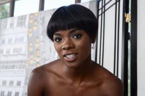 лицо, портрет, макияж, брюнетка, темнокожая, взгляд, чернокожая, модель, мулатка, девушка, Anna Foxxx, улыбка