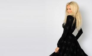 платье, блондинка, модель