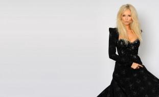 блондинка, платье, модель