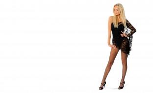 каблуки, колготки, платье, блондинка, модель