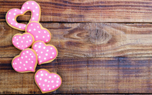 сердечки, печенье