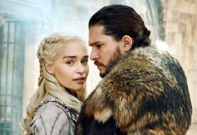 Emilia Clarke, Daenerys Targaryen, Jon Snow, Kit Harington