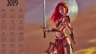 оружие, воительница, девушка