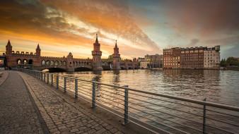 города, берлин , германия, мост