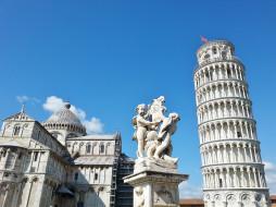 пиза италия, города, пиза , италия, собор, башня, город, пиза