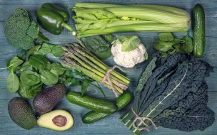 зелень, перец, авокадо, капуста, огурцы
