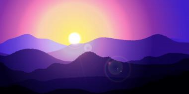 горы, свет