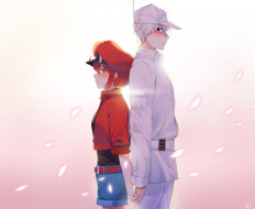 cells at work, аниме, hataraku saibou,  cells at work, двое