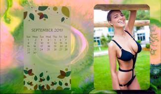 календари, девушки, улыбка, девушка