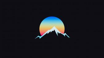 гора, луна