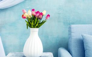 ваза, тюльпаны, бутоны