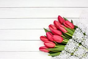 кружево, тюльпаны, бутоны