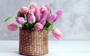 ваза, бутоны, тюльпаны