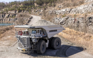 Liebherr T 264 обои для рабочего стола 1920x1200 liebherr t 264, техника, строительная техника, транспортные, средства, карьерный, самосвал, liebherr, t264, самосвалы, большие, грузовики, добыча, камня