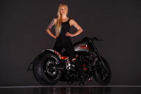 мотоциклы, мото с девушкой, взгляд, девушка, фон