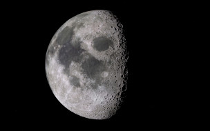 космос, луна, спутник, фаза