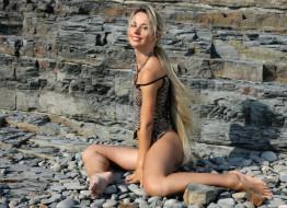 поза, ножки, блондинка, девушка, модель, Волкова, Наталья