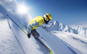 спорт, лыжный спорт, горы, снег