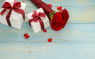 цветы, фон, подарок
