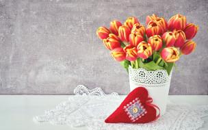 сердечко, цветы, фон