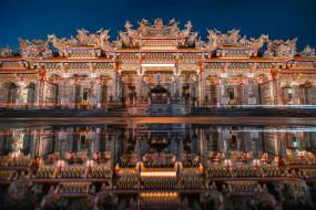 города, - буддийские и другие храмы, китай, храм, бамбукового, леса