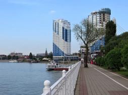 город, Кубань, река, набережная, Краснодар