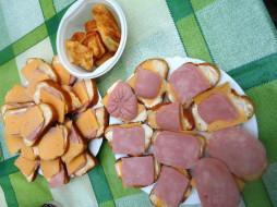 бутерброды, хлеб, колбаса, еда, сыр, пирожные