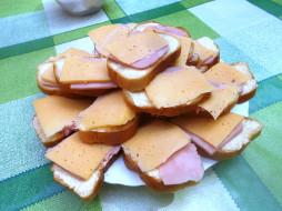бутерброды, хлеб, колбаса, сыр, еда