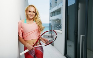 спорт, теннис, донна, векич, фон, взгляд, девушка