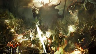 люди, битва, демоны