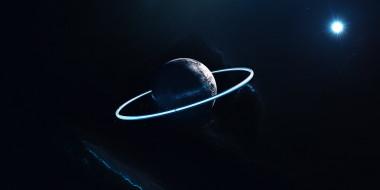 космос, арт, галактика, звезды, вселенная, планета